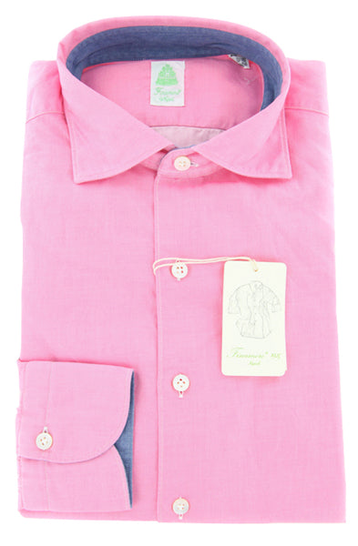 Finamore Napoli Pink Shirt – Size: S US / S EU  Dress Shirts - ShopTheFinest- Luxury  Italian Designer Brands for men