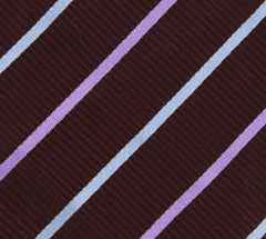 "New $195 Finamore Napoli Purple Striped Tie - 3"" x 57"" - (TIESTRX216)"