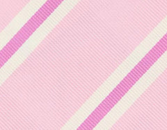 "New $195 Finamore Napoli Pink Striped Tie - 3.25"" x 57"" - (TIESTRX223)"