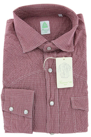Finamore Napoli Red Casual Shirt – Size: Large US