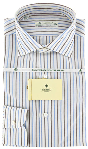 Luigi Borrelli Brown Shirt - Extra Slim