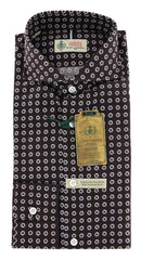 New $375 Luigi Borrelli Brown Shirt XL/XL