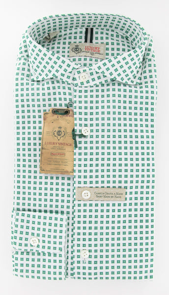 New $375 Borrelli Green Casual Shirt Medium