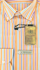 Luigi Borrelli Orange Shirt – Size: 16 US / 41 EU