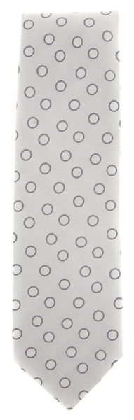"New $195 Luigi Borrelli Gray - Light Gray, Brown Polka Dots Tie - 2.75"" x 58.5"""