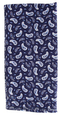 $250 Luigi Borrelli Navy Blue Linen Blend Long Scarf
