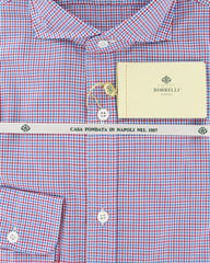 New $425 Luigi Borrelli Red Shirt 16/41