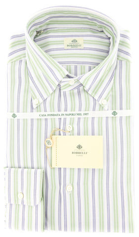 Luigi Borrelli Green Shirt - Slim
