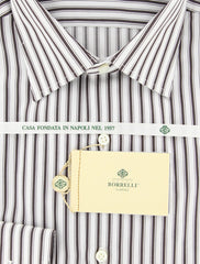 Luigi Borrelli Brown Shirt – Size: 15.75 US / 40 EU