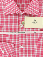 New $425 Luigi Borrelli Pink Shirt 15.75/40