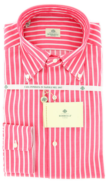 Luigi Borrelli Red Shirt – Size: 15 US / 38 EU