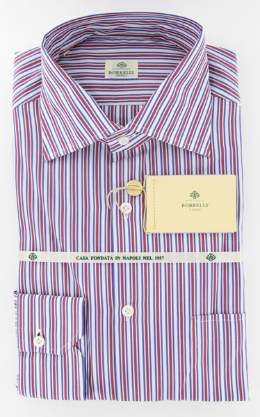 New $425 Luigi Borrelli Red Shirt 15.75/40