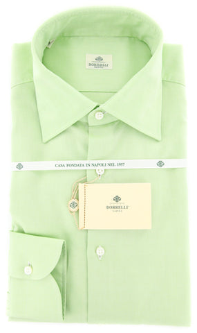 Luigi Borrelli Green Shirt – Size: 15 US / 38 EU