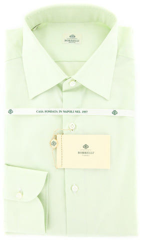 Luigi Borrelli Light Green Shirt - Slim