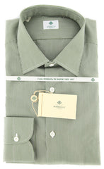 New $425 Luigi Borrelli Green Shirt 16/41