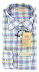 New $375 Luigi Borrelli Lavender Purple Shirt 15/38