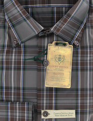 New $375 Luigi Borrelli Brown Plaid Shirt - Extra Slim - 16/41 - (963STEFANO)
