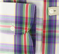 New $375 Luigi Borrelli Purple Shirt 17/43