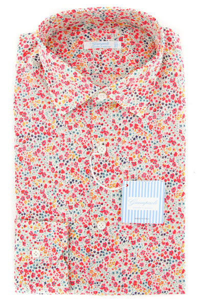 $375 Giampaolo Multi-Colored Floral Shirt - XSlim - (GP6064181SEVPT3) - Parent