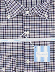 $375 Giampaolo Dark Gray Plaid Shirt - Extra Slim - (608GP-468-74) - Parent