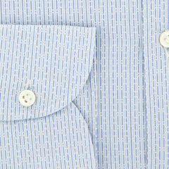 $375 Giampaolo Light Blue Fancy Shirt - Extra Slim - (GP61817577SESTPT1) - Parent