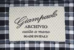 $375 Giampaolo Black Plaid Shirt - Extra Slim - (GP61821739MASSPT1) - Parent