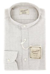 $375 Giampaolo Cream Melange Shirt - Extra Slim - 15.5/39 - (GP618263263ADMPT1)