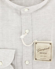 $375 Giampaolo Cream Melange Shirt - Extra Slim - (GP618263263ADMPT1) - Parent