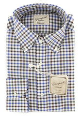 $375 Giampaolo Multi-Colored Check Shirt - Extra Slim - (618TS16256RAL) - Parent