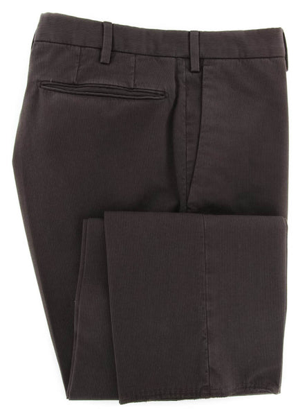 New $350 Incotex Brown Solid Pants - Slim - 30/46 - (1AGW3061351639)