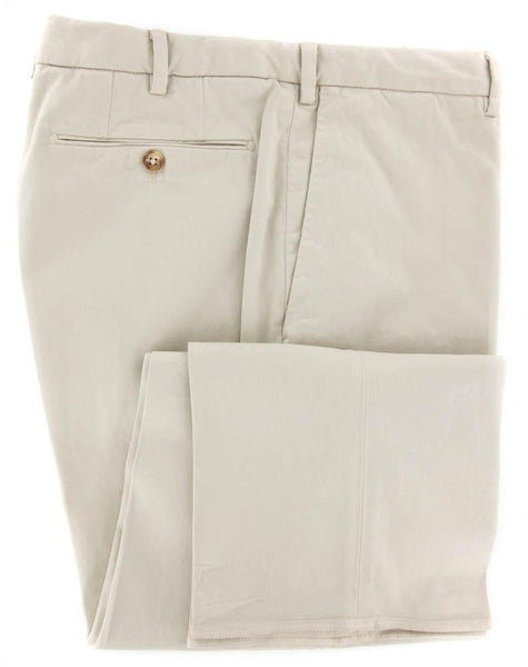 New $425 Incotex Beige Solid Pants - Slim - 46/62 - (1AGW354077630)