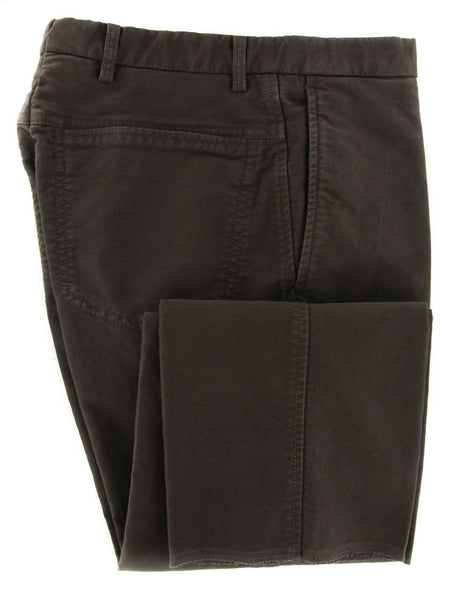 New $375 Incotex Brown Solid Pants - Slim - 42/58 - (1AW01820808639)
