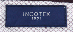 New $425 Incotex Navy Blue Solid Pants - Extra Slim - 42/58 - (1GWT3940737820)