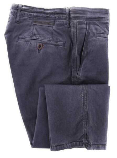 New $475 Incotex Purple Solid Pants - Slim - (1ST60590601837) - Parent