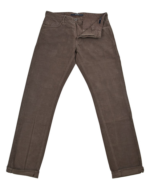 New $375 Incotex Brown Solid Pants - Slim - (RAYC40323436) - Parent