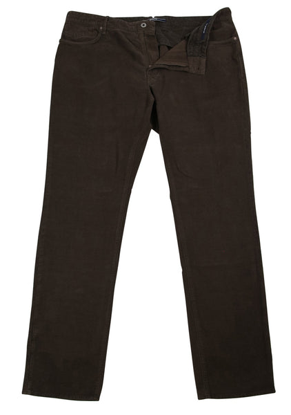 New $375 Incotex Brown Solid Pants - Slim - (RAYC40323626) - Parent