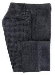 $475 Incotex Dark Gray Check Wool Blend Pants - Slim - 30/46 - (895)