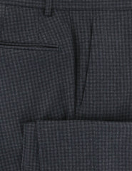 $475 Incotex Dark Gray Check Wool Blend Pants - Slim - (895) - Parent