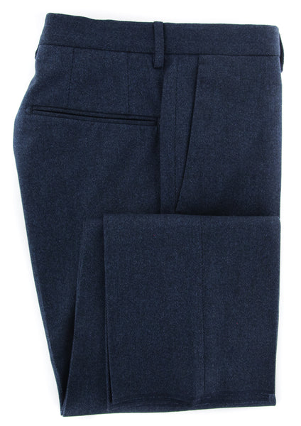 New $375 Incotex Dark Blue Melange Pants - Slim - (IN1116172) - Parent