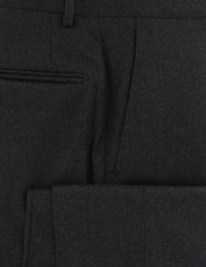 $500 Incotex Charcoal Gray Solid Wool Blend Pants - Slim - (886) - Parent