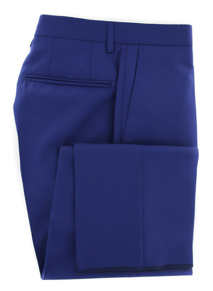 New $475 Incotex Blue Solid Pants - Slim - (IN00305584831) - Parent