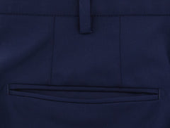 New $475 Incotex Navy Blue Solid Pants - Slim - (IN57001812) - Parent