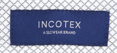 New $475 Incotex Dark Blue Fancy Pants - Extra Slim - (S0T0305825810) - Parent