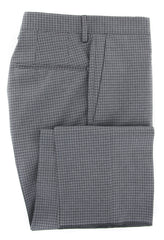 $475 Incotex Gray Micro-Check Pants - Slim - (IN-S0T030-6404-910) - Parent