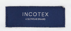 New $475 Incotex Dark Blue Melange Pants - Slim - (IN00304968810) - Parent