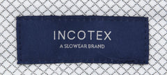 New $475 Incotex Midnight Navy Blue Fancy Pants - Slim - (IN1117171) - Parent