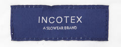$475 Incotex Navy Blue Melange Pants - Slim - (CY) - Parent
