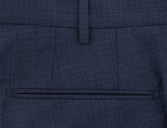 $475 Incotex Dark Blue Solid Pants - Slim - (IN-S0T030-S6333-810) - Parent