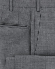 New $475 Incotex Gray Solid Pants - Extra Slim - (S0T030SS606910) - Parent