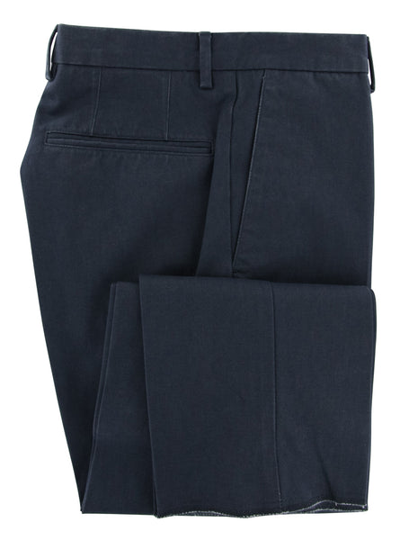 New $375 Incotex Dark Blue Solid Pants - Slim - (IN303781810) - Parent
